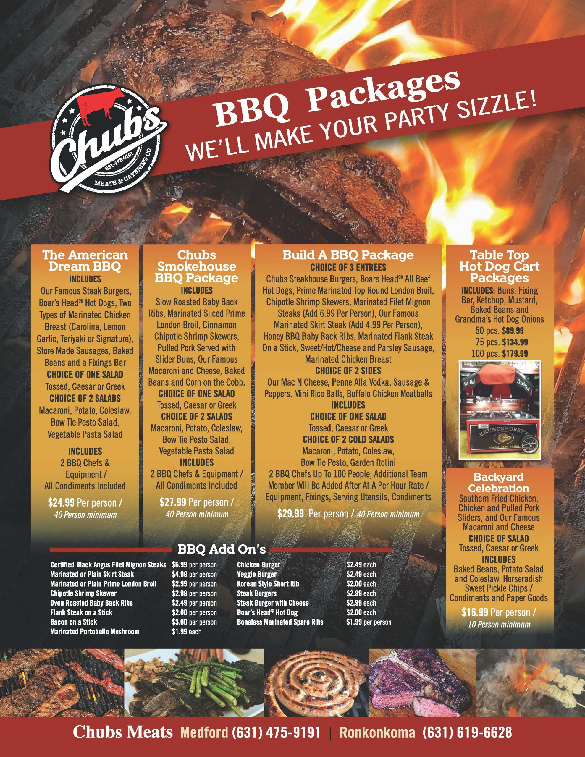 Chubs BBQ Packages